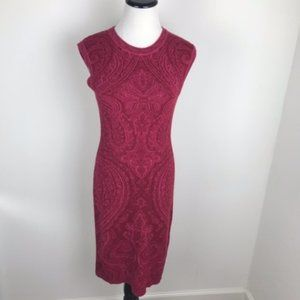 Patrizia Pepe Red Knit Bodycon Dress size 2